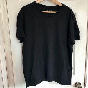 All Saints | Black 100% Cotton T-Shirt | L